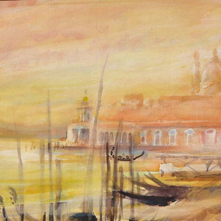 Louis faye artiste peintre, watercolour Venice